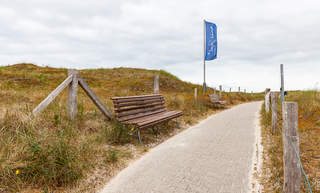 Way to the beach Norderney North Sea