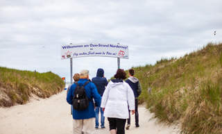 Norderney way through the dunes